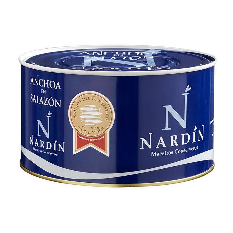 Salted Cantabrian anchovies 5kg can