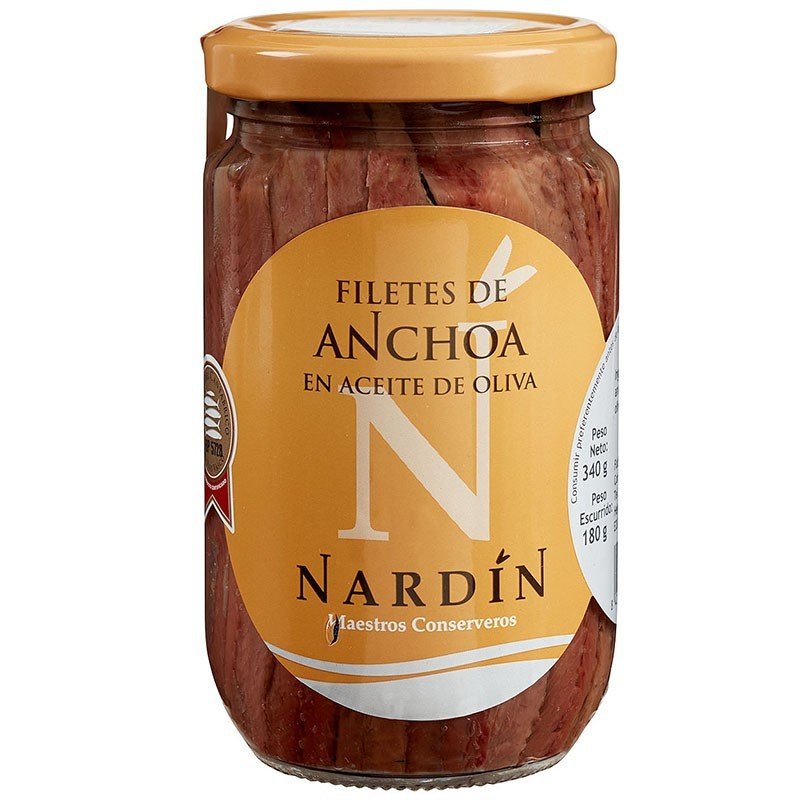 Cantabrian anchovies in olive oil, 340g jar