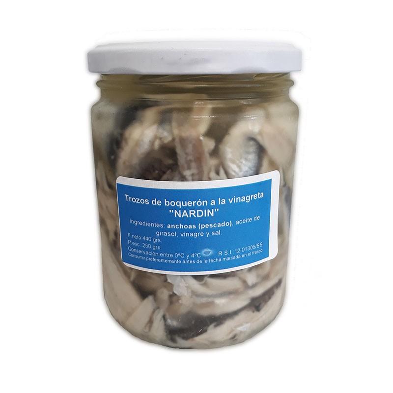 Pieces of anchovies in vinegar, 440g jar