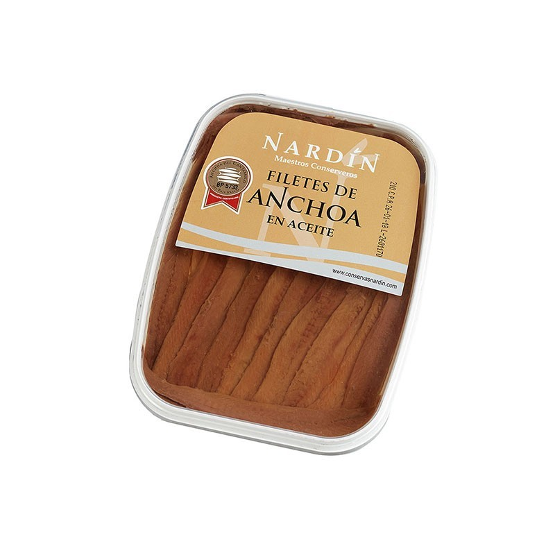 Cantabrian anchovies in sunflower oil, 175g terrine