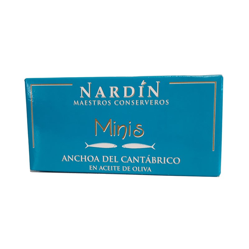 Small Cantabrian anchovies in olive oil, 50g can