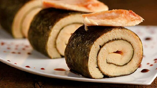 Tamago rolls with Nardín Cantabrian White Tuna (albacore)