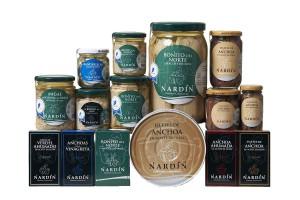 Catálogo de productos Conservas Nardín: bonito del norte, anchoa del cantábrico en aceite, vinagreta o ahumada