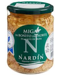 migas de bonito del norte en aceite de oliva conservas nardín, bonito del cantábrico