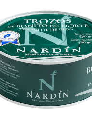 bonito del norte en aceite de oliva conservas nardín, bonito del cantábrico