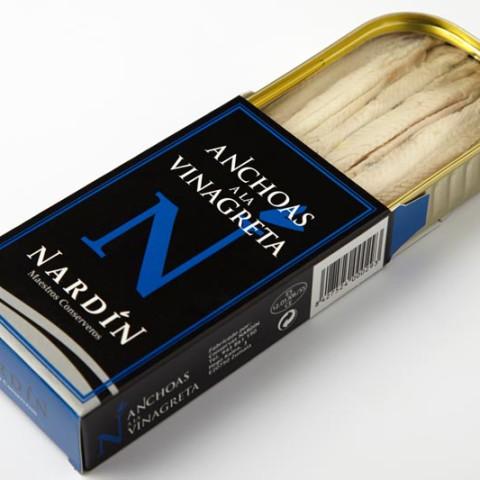 Anchoas a la vinagreta conservas nardín anchoa del cantábrico