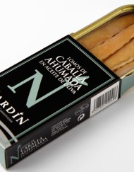 lomos de caballa ahumada en aceite de oliva conservas nardín maestros conserveros