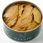 trozos de bonito del norte en aceite de oliva conservas nardín, bonito del cantábrico