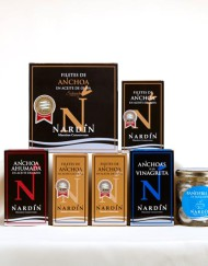 filetes de anchoa en aceite de oliva, anchoas a la vinagreta, anchoa ahumada, banderillas de boquerones de conservas nardín
